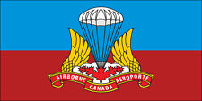 3x5 inch Canada Airborne Regiment Flag Sticker -decal canadian logo military