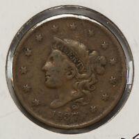 1837 1c Coronet Head Large Cent SKU-Y2545