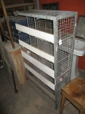 "Vintage Industrial chic metal wire workshop shelving pigeonholes  54""x 30"" x 12"""