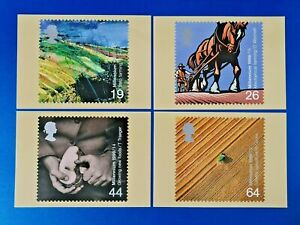 Set of 4 PHQ Stamp Postcards Set No.211 Millennium The Farmers Tale 1999 OE5