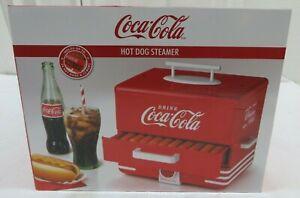 Nostalgia HDS248COKE Coca-ColaHot Dog Steamer Holds 24 Hot Dogs & 12 Buns