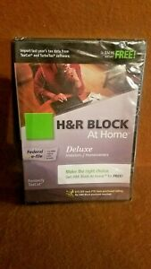 H&R Block At Home Deluxe + E-file + State 2009