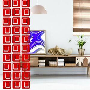 Bold Fun Red Room Divider DIY Kits - Atomic Retro Mid Century Modern Decor MCM