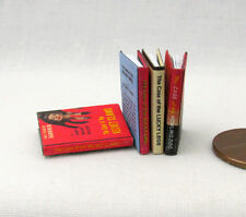 PERRY MASON MYSTERIES Set 4 Miniature Books Dollhouse 1:12 Scale Readable Books