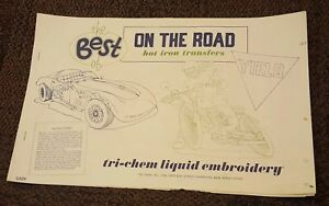 BEST OF ON THE ROAD Vintage Tri-Chem Hot Iron Transfer Patterns Book 6 Pages