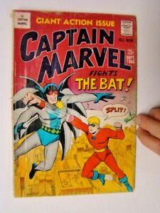 1966 Captain Marvel #3 The Bat Created by Carl Burgos MF Enterprises Comics GD