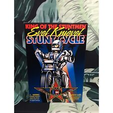 Vintage 100% Authentic Signed Autographed Evel Knievel 1998 Stunt Cycle Toys NIB