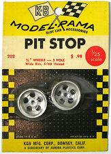 1965 K&B Aurora 1:24 Slot Car Pit Stop Parts 5-HOLE WIDE RIM 5/40 WHEEL SET 202