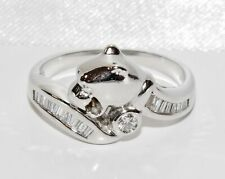 18ct White Gold Diamond Panther Ring size M - Solid 18k Gold