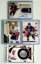 4- ANDERS LEE 2019-20 Ultimate Materials 2015-16 Trilogy Signature Pucks AUTO +2