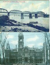 Newport KY The Court House and Louisville & Nashville Railroad Bridge