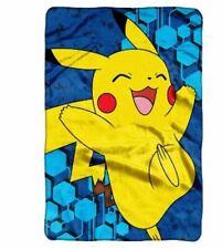 New Pikachu Nintendo Pokemon XL Plush Blanket 62x90 Over Size Twin Northwest Co