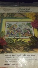 "Golden Bee ""Peaceable Kingdom"" Counted Cross Stitch #60496 - NIP"