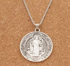 Protection from Evil Pendant Saint Benedict Necklace Medal Comes With Chain