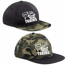 I LIKE TRAINS camo CAP hat SNAPBACK ASDF YouTube Cult Cartoon Gamer funny