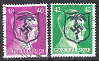 GERMANY 520, 529 AFRIKAKORP SHIELD OVERPRINTS CDS F/VF TO VF SOUND