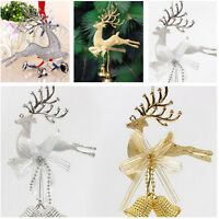 1/2X New Christmas Tree ornament deer Chital Hanging Xmas Baubles Party decorJ&C
