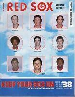 1977 MLB Baseball program, Toronto Blue Jays @ Boston Red Sox, unscored ~ VG