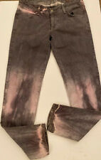 *SIWY* USA Grey Pink Bleached Effect Tie Dye Ankle Length Jeans 27