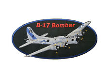 "B-17 Bomber, Military Plane Embroidered Patch 9.5"" x 4.5"""