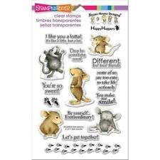 House Mouse So Sweet Clear Acrylic Stamp Set by Stampendous SSCM5004 NEW!