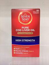 SEVEN SEAS PURE COD LIVER OIL HIGH STRENGTH - 60 CAPSULES