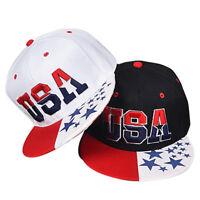 Usa Lettre Drapeau Américain Étoile Baseball Golf Casquette Élection Chape FE