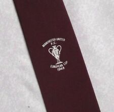 MANCHESTER UNITED FC TIE 1968 EUROPEAN CUP VINTAGE RETRO 1960s FOOTBALL CLUB