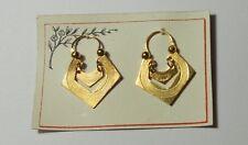 Artdeco Ohrringe von Jakob Bengel  - Gold  Double´ , Eckige Kreolen auf Karte