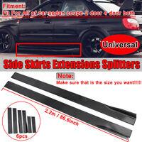 2.2M Universal Side Skirt Extension Rocker Panel Splitter Lip For Honda BMW Audi