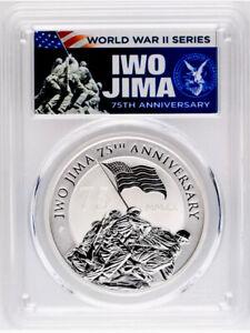 2020 $1 Iwo Jima 75th Anniversary 1oz Silver Coin PCGS MS70 FDOI