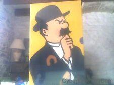 Coffret cassette video de Tintin trois cassettes six episodes.
