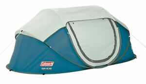 Coleman Fast Pitch Pop Up Galiano 2 Person Blue Tent Camping Festival