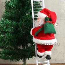 Xmas Santa Claus Climb Ladder Up Down Funny Sound Music Christmas Gift Funny