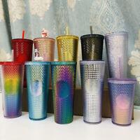 China Starbucks 2021 Rainbow Siren-logo Diamond Studded Tumbler Straw Cup 24oz