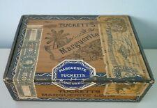 1922 Canadian Tuckett's Marguerite Wooden Cigar Box