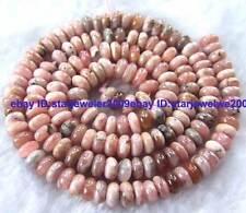 "3x5mm Natural Rhodochrosite roundel flat gemstone Beads 15.5"""