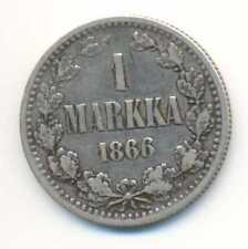 Finland under Russia Silver 1 Markka 1866 F