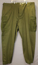 Vtg 50s M-51 Olive Green ARMY Cotton MODIFIED Field PANTS 48 x 33 DEADSTOCK NOS