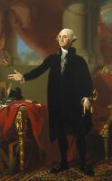 "Oil painting Gilbert Stuart George Washington holding sword in his office 36"" @@"