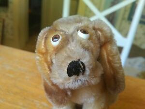 Antique Vintage mohair Steiff Basset Hound Teddy bear friend 3314,00  6in GUC+