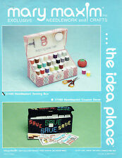 NEEDLEPOINT  SEWING  BOX  Caddy   plastic canvas  PATTERN  (#202)