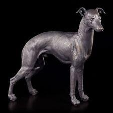 Galgo Figura - Greyhound Hombre Perro óptica Bronce Estatua Decorativa
