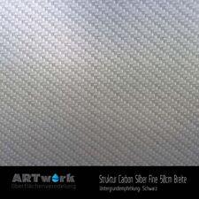 Wassertransferdruck Folie Starterset 2m Struktur Carbon Silber Fine + Aktivator