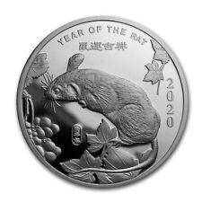 2020 Chinese Lunar Calendar Year Of The Rat 1 oz .999 Silver PRE-SALE BU Round