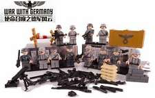 German Squad WW2  Wehrmacht soldiers Minifigures ,Building blocks 12 Army units