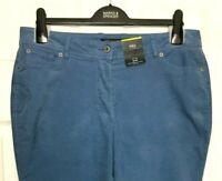 M&S Ladies Trousers Slate Blue Corduroy Stretch Slim Leg BNWT Marks