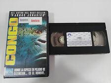 CONGO FRANK MARSHALL VHS CINTA TAPE COLECCIONISTA CASTELLANO