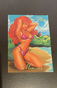 Mary Jane 1994 Flair Fleer Marvel Annual Peter Meets Mary Jane Card #24 Mint.