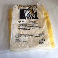 Squall Jacket River City Yellow PVC Material 070 Series NOS LARGE
